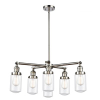 Innovations Lighting 207-6CR-PN-G312 Dover 6 Light 27 inch Polished Nickel Chandelier Ceiling Light Franklin Restoration