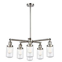 Innovations Lighting 207-6CR-PN-G314 Dover 6 Light 27 inch Polished Nickel Chandelier Ceiling Light Franklin Restoration