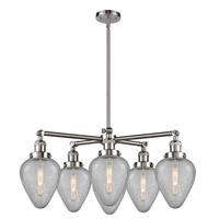 Innovations Lighting 207-6CR-SN-G165 Geneseo 6 Light 32 inch Satin Nickel Chandelier Ceiling Light Franklin Restoration