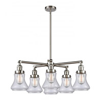 Innovations Lighting 207-6CR-SN-G192 Bellmont 6 Light 30 inch Satin Nickel Chandelier Ceiling Light Franklin Restoration