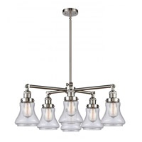 Innovations Lighting 207-6CR-SN-G194 Bellmont 6 Light 30 inch Satin Nickel Chandelier Ceiling Light Franklin Restoration