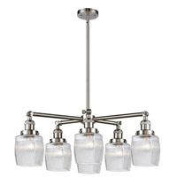 Innovations Lighting 207-6CR-SN-G302 Colton 6 Light 28 inch Satin Nickel Chandelier Ceiling Light Franklin Restoration