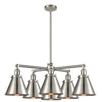 Innovations Lighting 207-6CR-SN-M13-SN Appalachian 6 Light 32 inch Brushed Satin Nickel Chandelier Ceiling Light Franklin Restoration