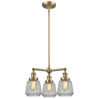 Innovations Lighting 207-AB-G142-LED Chatham LED 24 inch Antique Brass Chandelier Ceiling Light