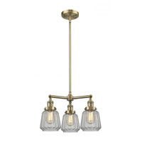 Innovations Lighting 207-AB-G142 Chatham 3 Light 24 inch Antique Brass Chandelier Ceiling Light