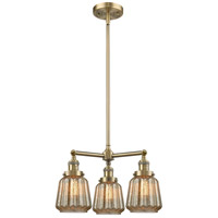 Innovations Lighting 207-AB-G146-LED Chatham LED 24 inch Antique Brass Chandelier Ceiling Light