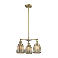 Innovations Lighting 207-AB-G146 Chatham 3 Light 24 inch Antique Brass Chandelier Ceiling Light