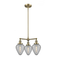 Innovations Lighting 207-AB-G165 Geneseo 3 Light 26 inch Antique Brass Chandelier Ceiling Light Franklin Restoration