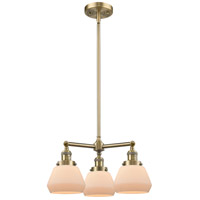 Innovations Lighting 207-AB-G171-LED Fulton LED 22 inch Antique Brass Chandelier Ceiling Light