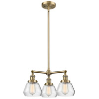 Innovations Lighting 207-AB-G172-LED Fulton LED 22 inch Antique Brass Chandelier Ceiling Light Franklin Restoration