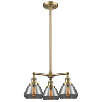 Innovations Lighting 207-AB-G173-LED Fulton LED 22 inch Antique Brass Chandelier Ceiling Light Franklin Restoration