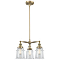 Innovations Lighting 207-AB-G182-LED Canton LED 18 inch Antique Brass Chandelier Ceiling Light Franklin Restoration
