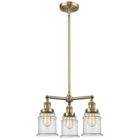 Innovations Lighting 207-AB-G184-LED Canton LED 18 inch Antique Brass Chandelier Ceiling Light Franklin Restoration