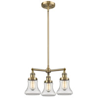Innovations Lighting 207-AB-G192-LED Bellmont LED 18 inch Antique Brass Chandelier Ceiling Light Franklin Restoration