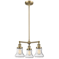 Innovations Lighting 207-AB-G194-LED Bellmont LED 18 inch Antique Brass Chandelier Ceiling Light Franklin Restoration