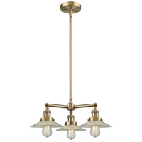 Innovations Lighting 207-AB-G2-LED Halophane LED 22 inch Antique Brass Chandelier Ceiling Light