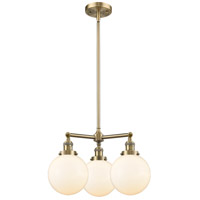 Beacon LED 22 inch Antique Brass Chandelier Ceiling Light