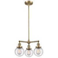 Innovations Lighting 207-AB-G204-6-LED Beacon LED 19 inch Antique Brass Chandelier Ceiling Light Franklin Restoration