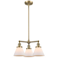 Innovations Lighting 207-AB-G41-LED Large Cone LED 22 inch Antique Brass Chandelier Ceiling Light Franklin Restoration