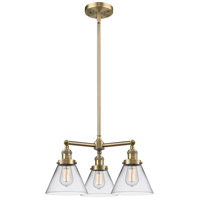 Innovations Lighting 207-AB-G42-LED Large Cone LED 22 inch Antique Brass Chandelier Ceiling Light Franklin Restoration