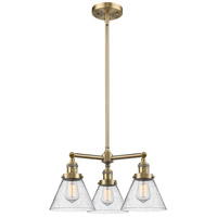 Innovations Lighting 207-AB-G44-LED Large Cone LED 22 inch Antique Brass Chandelier Ceiling Light Franklin Restoration