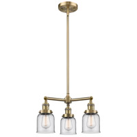 Innovations Lighting 207-AB-G52-LED Small Bell LED 19 inch Antique Brass Chandelier Ceiling Light Franklin Restoration