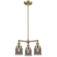 Innovations Lighting 207-AB-G53-LED Small Bell LED 19 inch Antique Brass Chandelier Ceiling Light Franklin Restoration
