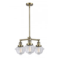 Innovations Lighting 207-AB-G532-LED Small Oxford LED 20 inch Antique Brass Chandelier Ceiling Light Franklin Restoration