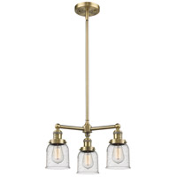 Innovations Lighting 207-AB-G54-LED Small Bell LED 19 inch Antique Brass Chandelier Ceiling Light Franklin Restoration
