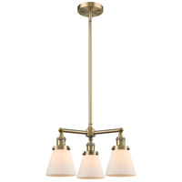 Innovations Lighting 207-AB-G61-LED Small Cone LED 19 inch Antique Brass Chandelier Ceiling Light Franklin Restoration