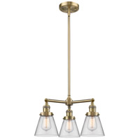 Innovations Lighting 207-AB-G62-LED Small Cone LED 19 inch Antique Brass Chandelier Ceiling Light Franklin Restoration