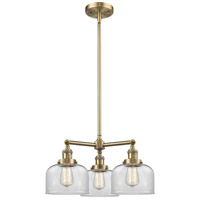 Innovations Lighting 207-AB-G72-LED Large Bell LED 22 inch Antique Brass Chandelier Ceiling Light Franklin Restoration