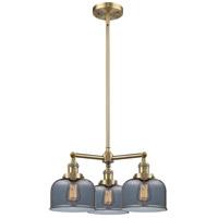 Innovations Lighting 207-AB-G73-LED Large Bell LED 22 inch Antique Brass Chandelier Ceiling Light