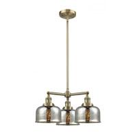 Innovations Lighting 207-AB-G78 Large Bell 3 Light 22 inch Antique Brass Chandelier Ceiling Light Franklin Restoration