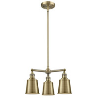 Innovations Lighting 207-AC-M9 Addison 3 Light 19 inch Antique Copper Chandelier Ceiling Light photo thumbnail