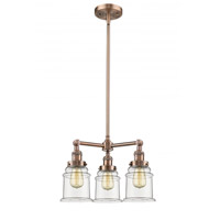 Innovations Lighting 207-AC-G182 Canton 3 Light 18 inch Antique Copper Chandelier Ceiling Light Franklin Restoration