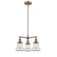 Innovations Lighting 207-AC-G192 Bellmont 3 Light 18 inch Antique Copper Chandelier Ceiling Light Franklin Restoration