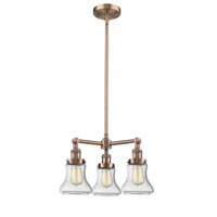 Antique Copper Glass Bellmont Chandeliers