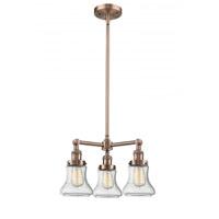 Innovations Lighting 207-AC-G194 Bellmont 3 Light 18 inch Antique Copper Chandelier Ceiling Light Franklin Restoration