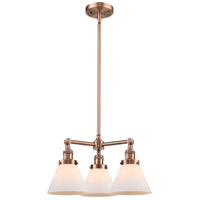 Large Cone LED 22 inch Antique Copper Chandelier Ceiling Light