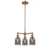 Innovations Lighting 207-AC-G53-LED Small Bell LED 19 inch Antique Copper Chandelier Ceiling Light Franklin Restoration