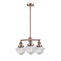 Innovations Lighting 207-AC-G532-LED Small Oxford LED 20 inch Antique Copper Chandelier Ceiling Light Franklin Restoration