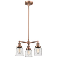 Innovations Lighting 207-AC-G54-LED Small Bell LED 19 inch Antique Copper Chandelier Ceiling Light Franklin Restoration