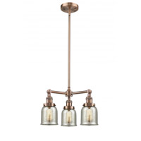 Innovations Lighting 207-AC-G58-LED Small Bell LED 19 inch Antique Copper Chandelier Ceiling Light Franklin Restoration