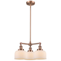 Innovations Lighting 207-AC-G71-LED Large Bell LED 22 inch Antique Copper Chandelier Ceiling Light Franklin Restoration