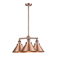 Innovations Lighting 207-AC-M10 Briarcliff 3 Light 24 inch Antique Copper Chandelier Ceiling Light, Franklin Restoration photo thumbnail