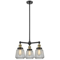 Innovations Lighting 207-BK-G142-LED Chatham LED 24 inch Matte Black Chandelier Ceiling Light