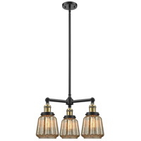 Chatham LED 24 inch Black Antique Brass Chandelier Ceiling Light