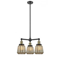 Chatham 3 Light 24 inch Black Antique Brass Chandelier Ceiling Light