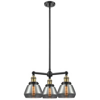 Fulton LED 22 inch Matte Black Chandelier Ceiling Light